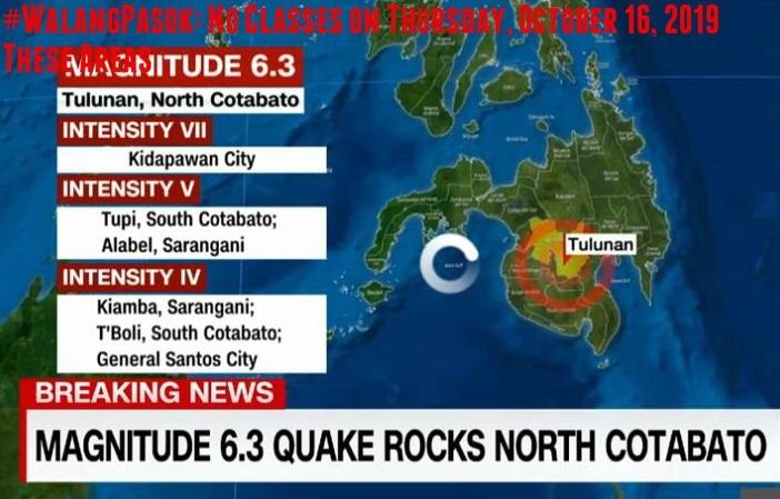 Magnitude 6.3 Na Lindol Niyanig Ang Tulunan, Cotabato